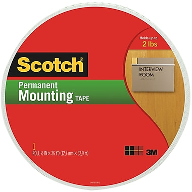 Scotch® Permanent Heavy Duty Mounting Tape, 3/4in. x 38 yd, 3in. Core