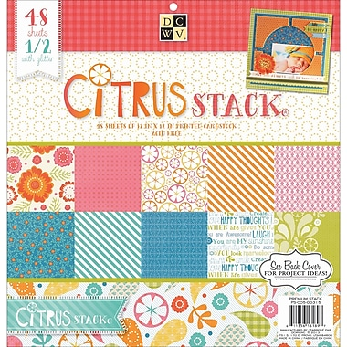 Diecuts With A View® Citrus 2 Paper Stack, 12