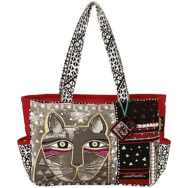 Laurel Burch® Medium Tote With Zipper Top, Whiskered Cat
