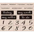 Hero Arts® 5in. x 4in. Mounted Stamp Set, Days Of The Week & Numbers
