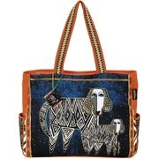 Laurel Burch® Oversized Tote With Zipper Top, Zig Zag Dogs