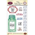 Justrite® Papercraft 4in. x 6in. One Clear Stamp Set, Baking Antique Tags