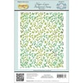 Justrite® 4 1/2in. x 5 3/4in. Papercraft Background Cling Rubber Stamp, Filigree Leaves