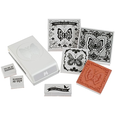 EK Success® Stamp and Punch Set, Lace Butterfly