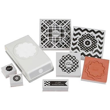EK Success® Stamp and Punch Set, Patterned Greetings