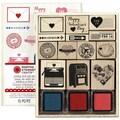 Martha Stewart Crafts™ 5in. x 6 1/4in. Valentine Mounted Stamp Set, Love Notes