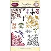 "Justrite® Papercraft 4"" x 6"" Clear Stamp Set, Ornate Corners"