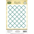 Justrite® Papercraft 4 1/2in. x 5 3/4in. Background Cling Stamp, Moroccan Lattice
