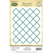 "Justrite® Papercraft 4 1/2"" x 5 3/4"" Background Cling Stamp, Moroccan Lattice"