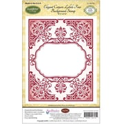 "Justrite® Papercraft 4 1/2"" x 5 3/4"" Background Cling Stamp, Elegant Corners Label 4"