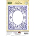 Justrite® Papercraft 4 1/2in. x 5 3/4in. Background Cling Stamp, Lavish Corners