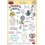 "Justrite® Papercraft 6"" x 8"" Clear Stamp Set, Special Delivery"