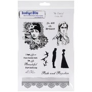 "IndigoBlu 9 1/4"" x 6 1/4"" Mounted Cling Rubber Stamp, Mr. Darcy"