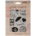 Hero Arts® 5in. x 6 1/2in. Basic Gray Fresh Cut Clear Stamp Set, Sunshine