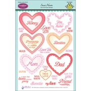 Justrite® Papercraft 6 x 8 Clear Stamp Set, Sweet Hearts