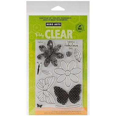 Hero Arts® Clear® 4in. x 6in. Stamp Set, Butterfly and Flower