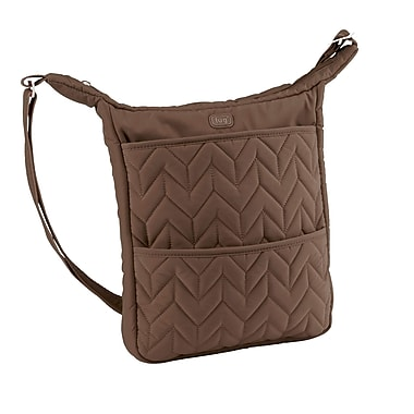 Lug Compass Shoulder Pouch, Chocolate