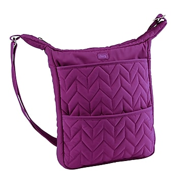 Lug Compass Shoulder Pouch, Plum