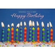 Greeting Cards, Wishing You a Very Happy Birthday, 18/Pack