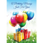 Greeting Cards, A Birthday Message Just For You, 18/Pack