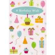 Greeting Cards, A Birthday Wish, 18/Pack