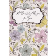 Greeting Cards, A Birthday Prayer for You, Pastel Flowers, 18/Pack