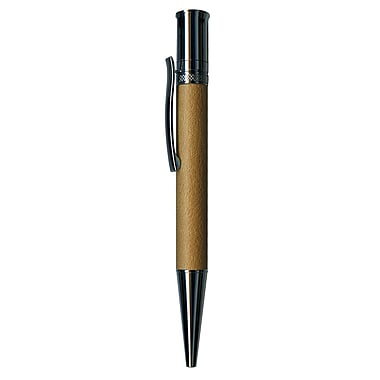 Pierre Belvedere Ballpoint Pen, Beige Faux Leather