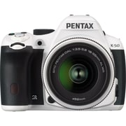 Pentax K-50 Lens Kit with DA 18-135 WR 10961 Digital SLR Camera ,White