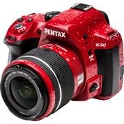 Pentax K-50 Lens Kit with DA L18-55 & 50-200 WR 10997 Digital SLR Camera ,Red