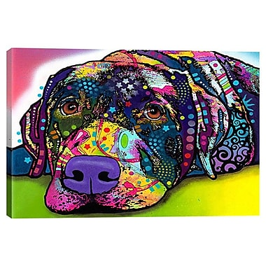 iCanvas 'Savvy Labrador' by Dean Russo Graphic Art on Wrapped Canvas; 26'' H x 40'' W x 1.5'' D