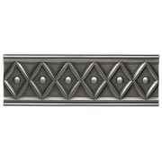 Daltile Metal Ages 12'' x 4'' Corbel Glazed Decorative Accent in Polished Pewter