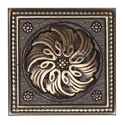 Daltile Metal Ages 2'' x 2'' Celtic Glazed Decorative Tile Insert in Polished Bronze