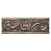 Daltile Metal Ages 12'' x 4'' Chaplet Glazed Decorative Accent in Polished Bronze