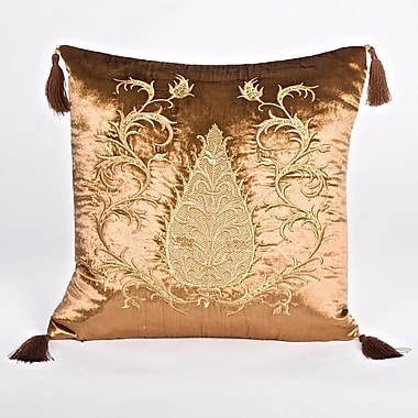 Debage Inc. Tudor Climbing Acorn Velvet Throw Pillow; Brown