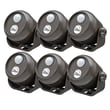 Mr. Beams Wireless LED Mini Spotlight with Motion Sensor and Photocell (Set of 6); Brown
