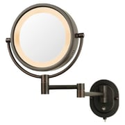 Jerdon Lighted 5X Magnifying Cosmetic Mirror; Bronze