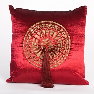 Debage Inc. Tudor Velvet Throw Pillow; Red