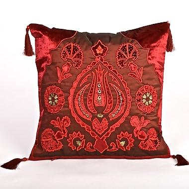 Debage Inc. Tudor Velvet Throw Pillow; Red