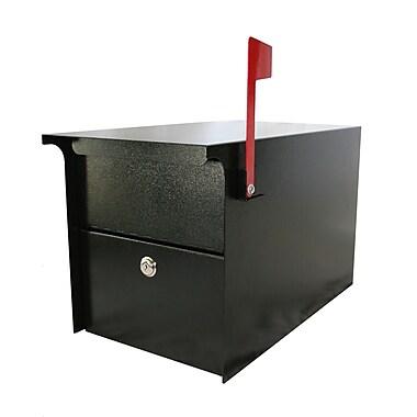 dVault Locking Post Mounted Mailbox; Black