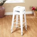 TMS 30'' Avalon Metal Stackable Stool (Set of 2); White