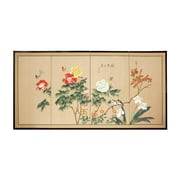 Oriental Furniture 24'' Butterflies in The Garden Room Divider