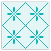 Oscar & Izzy Folksy Love 6'' x 6'' Glossy Decorative Tile in Glass Green