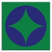 Oscar & Izzy Folksy Love 6'' x 6'' Satin Decorative Tile in Peek Blue-Green