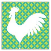 Oscar & Izzy Folksy Love 6'' x 6'' Satin Decorative Tile in Doodle-Do Green-Left