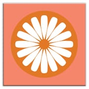 Oscar & Izzy Folksy Love 4-1/4'' x 4-1/4'' Satin Decorative Tile in Slice