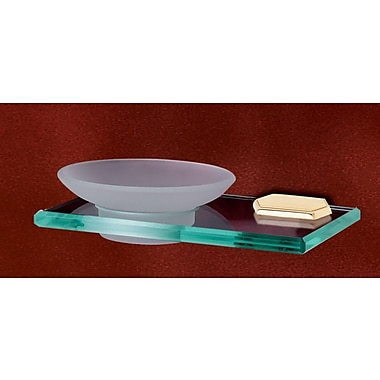 Alno Nicole Soap Dish; Polished Brass