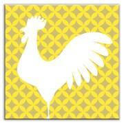 Oscar & Izzy Folksy Love 6'' x 6'' Satin Decorative Tile in Doodle-Do Yellow Left