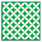 Oscar & Izzy Folksy Love 6'' x 6'' Satin Decorative Tile in Needle Point Green