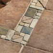 Mohawk Artistic Accent Statements 12'' x 3'' Slate Geometric Decorative Border in Gold/Multicolor