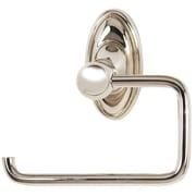 Alno Classic Traditional Wall Mounted Single Post Toilet Paper Holder; Polished Nickel